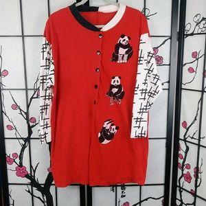 🌼 Vintage Panda Playsuit Romper Graphic Soft